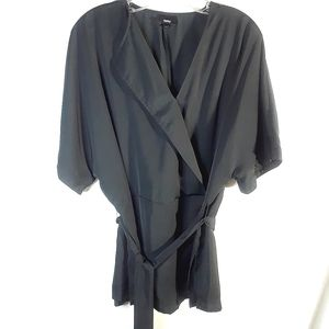 Mossimo black kimono style top with belt